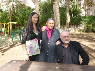 From left to right:  Jo Berry, Robi Damelin and Patrick Magee