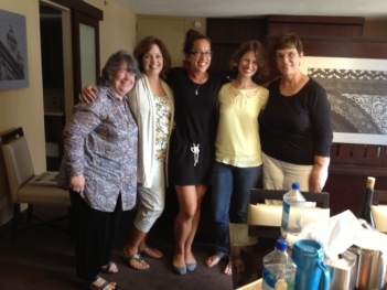 The ladies from the workshop (L to R):  Sandy, Ginny, Chrissie, Me and Marilyn.